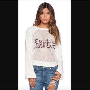 RARE Wildfox Barbie Open Mesh Bell Sleeves Sweater